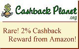 cashback from TOP stores including Amazon